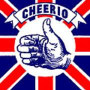 1910 Union Jack Cheerio Poster