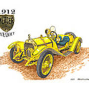 1911 1912 Mercer Raceabout R 35 Poster