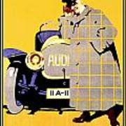 1912 - Audi Automobile Advertisement Poster - Ludwig Hohlwein - Color Poster