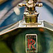 1912 Rolls-royce Silver Ghost Cann Roadster Skull Hood Ornament Poster