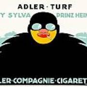 1913 - Adler Cigarette German Advertisement Poster - Color Poster