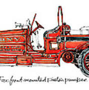 1913 Ahrens-fox Front Mounted Piston Pumper Poster