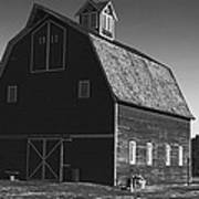 1913 Barn Black And White Poster