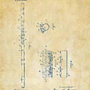 1914 Flute Patent - Vintage Poster