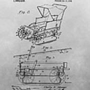 1914 Go Cart Patent Drawing Poster
