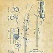 1915 Ithaca Shotgun Patent Vintage Poster