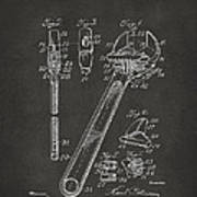 1915 Wrench Patent Artwork - Gray Poster