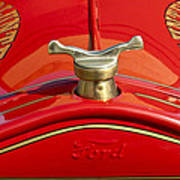 1919 Ford Volunteer Fire Truck Poster by Jill Reger