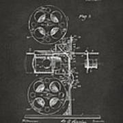 1920 Motion Picture Machine Patent Gray Poster