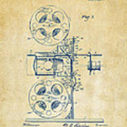 1920 Motion Picture Machine Patent Vintage Poster