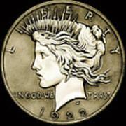 1922 Circulated Peace Dollar Poster