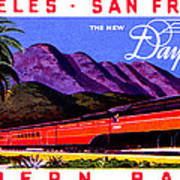 1922 Daylight Railroad Train Poster