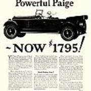 1924 - Paige Automobile Advertisement Poster