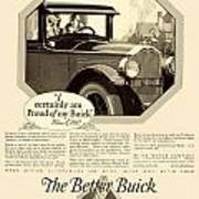 1925 - Buick Automobile Advertisement Poster