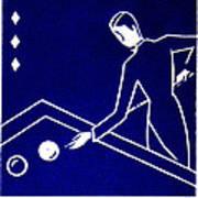 1925 Akatsuki Billiards Of Japan Poster