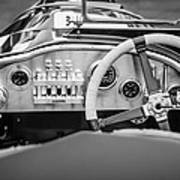 1925 Aston Martin 16 Valve Twin Cam Grand Prix Steering Wheel -0790bw Poster