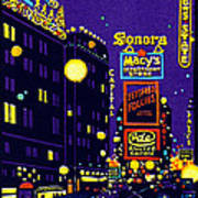 1925 New York City At Night Poster