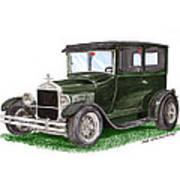 1926 Ford Tudor Sedan Street Rod Poster