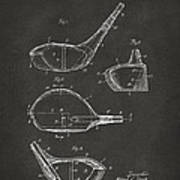 1926 Golf Club Patent Artwork - Gray Poster