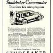 1927 - Studebaker Commander Automobile Advertisement Poster