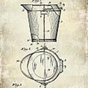 1928 Milk Pail Patent Drawing Poster