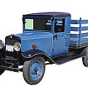 1929 Blue Chevy Truck 1 Ton Stake Body Poster