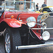 1929 Mercedes Benz Front And Side View Poster