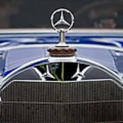 1929 Mercedes Benz S Erdmann And Rossi Cabiolet Hood Ornament Poster