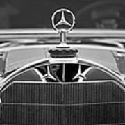 1929 Mercedes-benz S Erdmann - Rossi Cabiolet Hood Ornament Poster