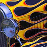1929 Model A 2 Door Sedan With Flames Poster
