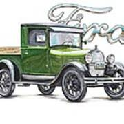 1929 Model A Ford Truck Poster