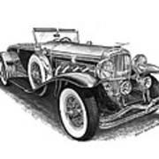 1930 Duesenberg Model J Poster
