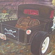 1930 Ford Pick Up Truck/reaper Poster