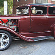 1930 Ford Two Door Sedan Side View Poster