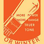 1930 Radio Tubes Ad Poster by Igor Kislev