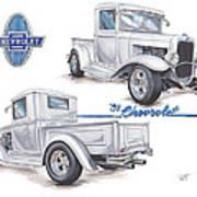 1931 Chevrolet Truck Hot Rod Poster