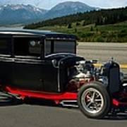 1931 Ford Model A Sedan Hot Rod Poster