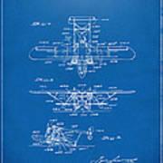 1932 Amphibian Aircraft Patent Blueprint Poster