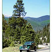 1932 Packard Eight Sedan Cresting Bob Cat Pass Poster