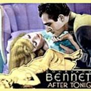 1933 - After Tonight Motion Picture Poster - Constance Bennet - Gilbert Roland - Color Poster