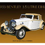 Bentley Derby D H C  Poster