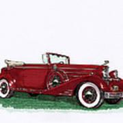 1933 Cadillac Convert Victoria Poster by Jack Pumphrey