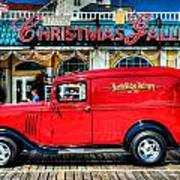 1933 Chevy Delivery Truck Red Poster