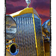 1934 Packard With  Brush Frame Poster