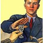 1935 - Soviet Union Anti Alcohol Propaganda Poster - Color Poster
