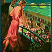 1935 Atlantic City Vintage Travel Art Poster