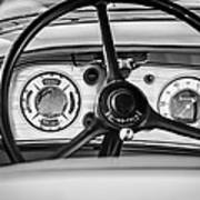 1935 Auburn 851 Supercharged Boattail Speedster Steering Wheel -0862bw Poster