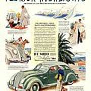 1936 - De Soto Airflow IIi Automobile Advertisement - Color Poster