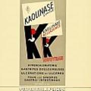 1936 - Kaolinase Drug Advertisement - Color Poster