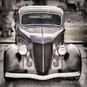 1936 Ford Roadster Classic Car Or Automobile Painting In Color  3120.02 Poster